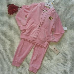 Juicy couture 3T 2pc hoodie + pant set